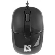 Миша провідна Defender Optimum MS-130 (52130) Black USB Інтерфейс:USB / Тип: Класична / Сенсор: opt