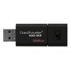 Портативні носії інформації 128GB Kingston DT 100 G3 Black (DT100G3/128GB)128 ГБ / USB 3.0 / пласти