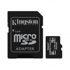 Портативні носії інформації microSDHC 16GB Kingston Canvas Select Plus Class 10 UHS-I А1 + SD-adapte