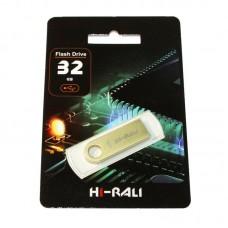 Портативні носії інформації 32GB Hi-Rali Shuttle Gold (HI-32GBSHGD)32 ГБ / USB 2.0 / пластик\n
