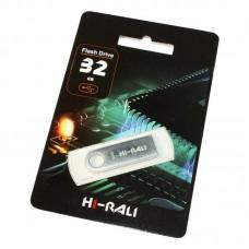 Портативні носії інформації 32GB Hi-Rali Shuttle Silver (HI-32GBSHSL)32 ГБ / USB 2.0 /
