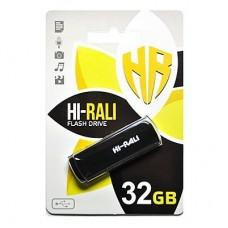 Портативні носії інформації 32GB Hi-Rali Taga Black (HI-32GBTAGBK)32 ГБ / USB 2.0 /
