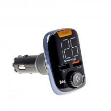 FM-трансмиттер Grand-X 97GRX Bluetooth V5.0, MicroSD, 2USB QuickCharge 3.0+1А, MegaBass, hands free