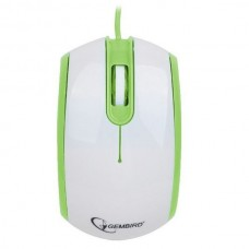 Миша провідна Gembird MUS-105-GUSB інтерфейс, біло-зелений колір