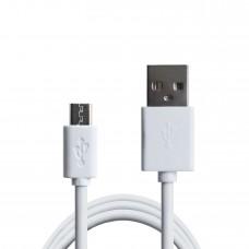 Кабель Grand-X USB-micro USB PM01W 2,1A, 1m, 100% мідь, White. Упаковка-гіфтбокс з вікном