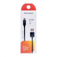 Кабель Grand-X USB-micro USB PM025B,100% мідь, 2.5m, Black, BOX